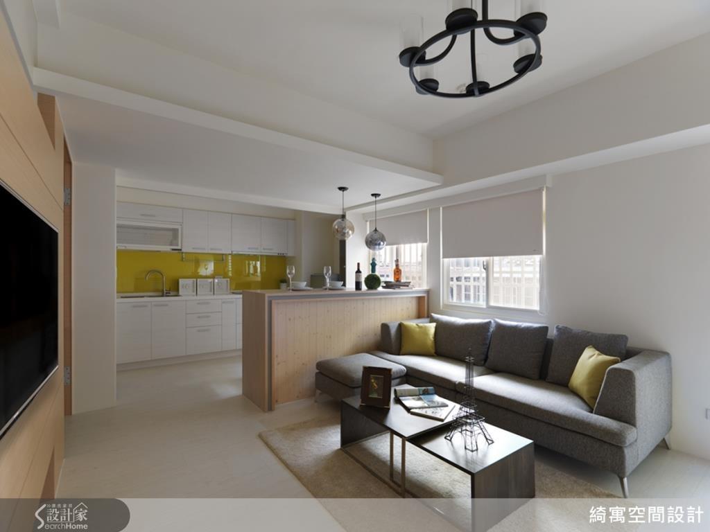 如此明亮寬敞的兩房兩廳居家,你相信它只有17坪嗎?快來瞧瞧設計師究竟施展了什麼格局魔法!