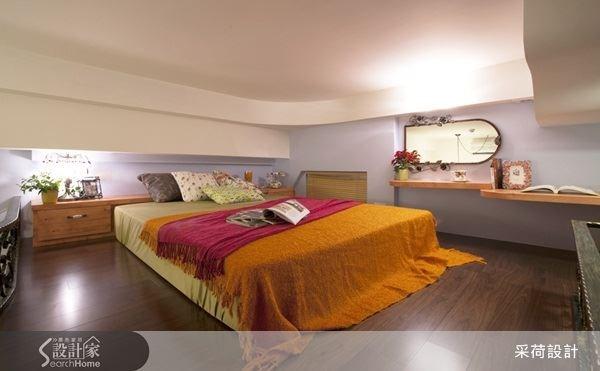 造型天花板,使視覺有向上延伸的效果,讓夾層空間也能很舒適。