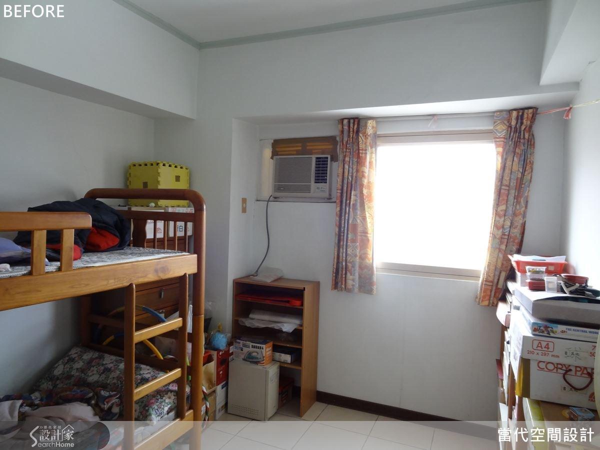 房間內原本均採用現成傢具與收納櫃,收納機能嚴重不足。