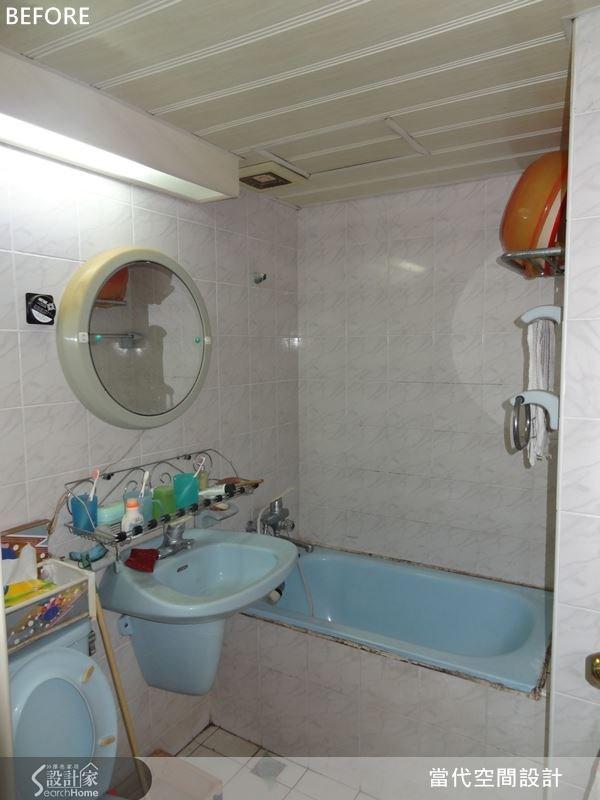 原本的衛浴空間毫無設計感可言,加上沒有乾濕分離設計,衛浴內經常潮濕且不易維持整潔。