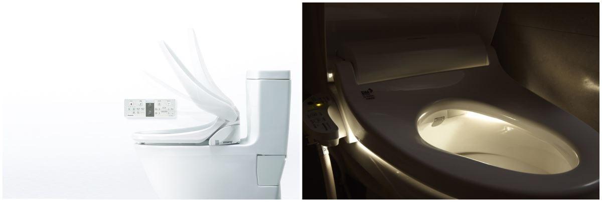 能自動開蓋並在夜間自動開啟柔光照明,避免強光刺眼或摸黑跌倒。
