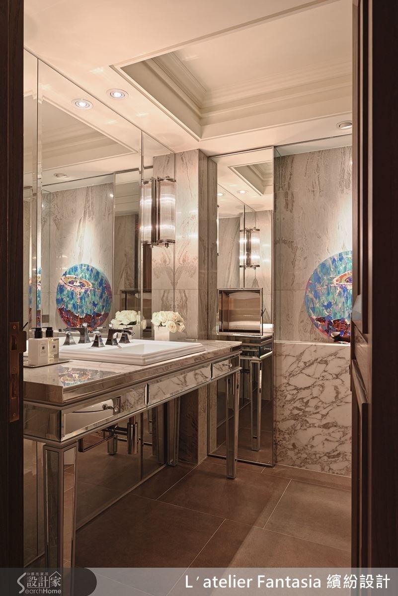 即使是洗手間都有高級飯店的等級,展現一致的格調。