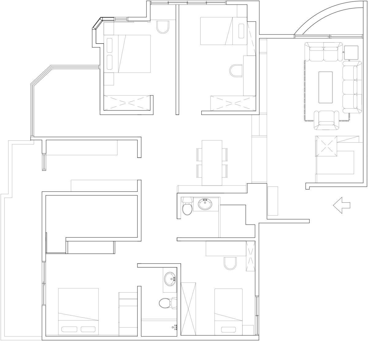 平面圖提供_芽米室內設計