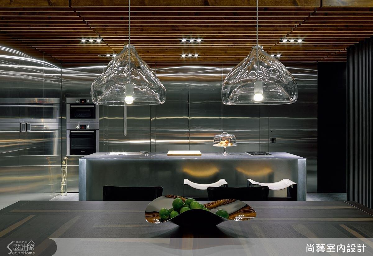 空間中使用了不同材質,藉由質地引具出溫度的視覺效果。