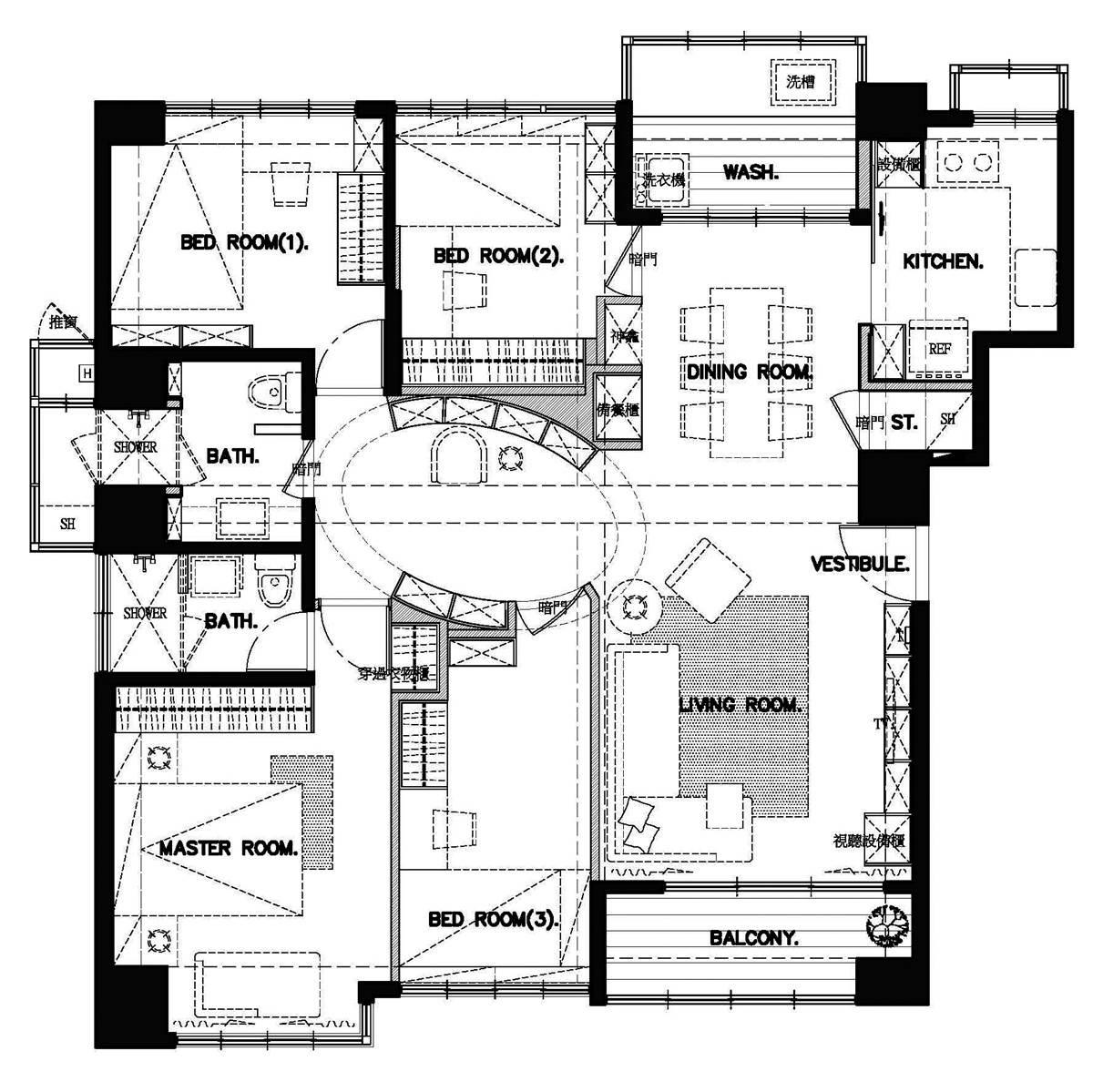 平面圖提供_演拓空間室內設計
