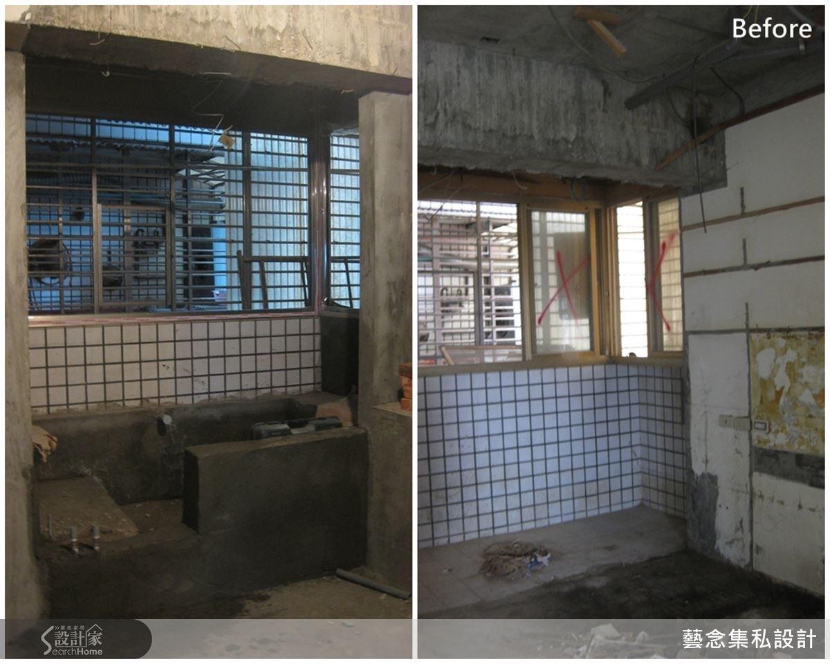 規劃前的浴室有壁癌與漏水等問題,需要裡外重新規劃。