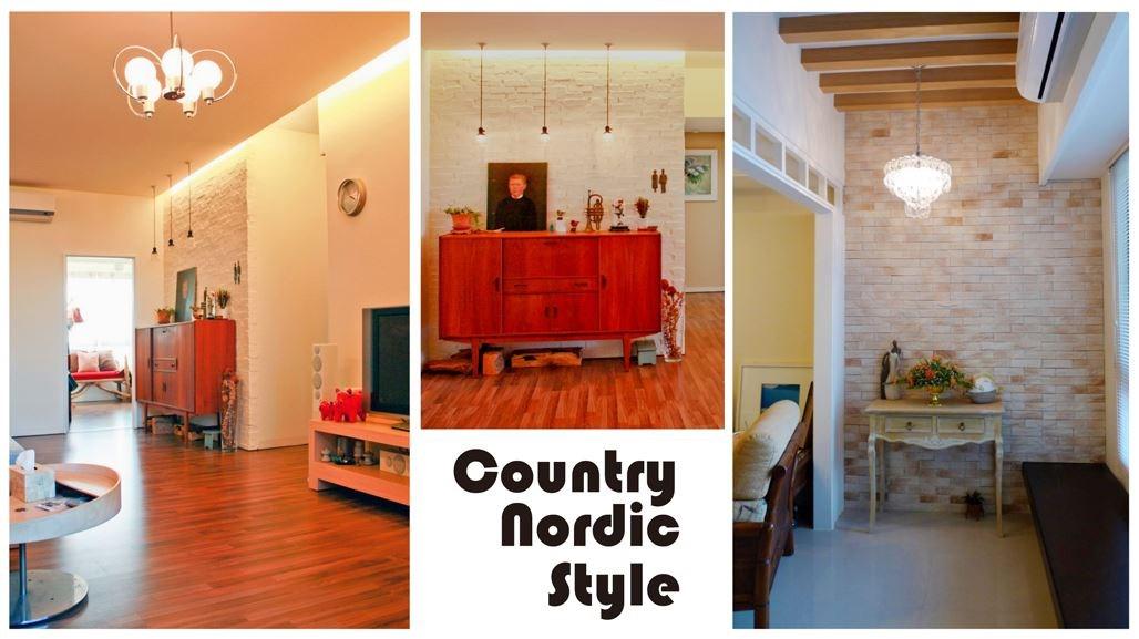 即使小角落也能營造出別有一番風味的感覺,素面牆面帶點原有的材質紋理,挑選帶點復古風格的家具擺設,簡單造型的燈具以色溫帶出幸福空間感。