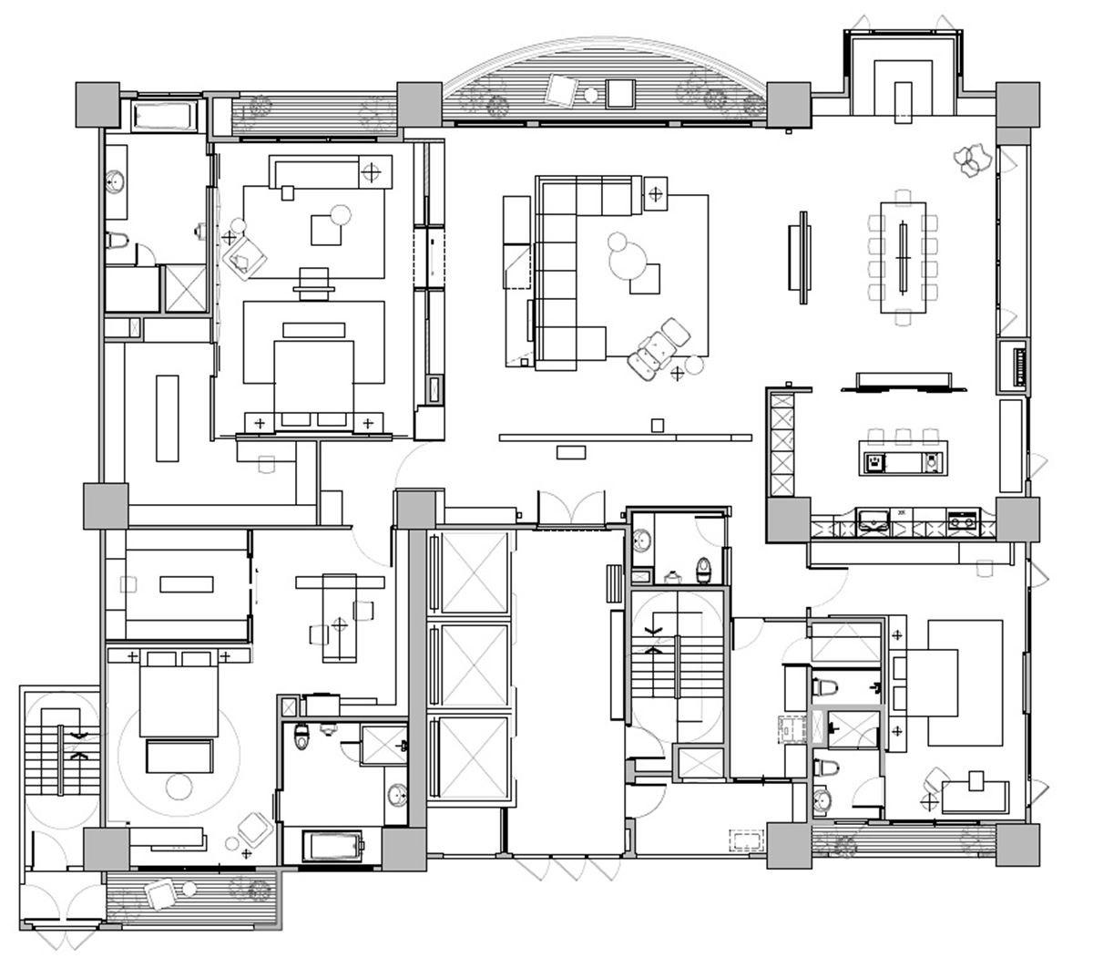 平面圖提供_奇逸空間設計