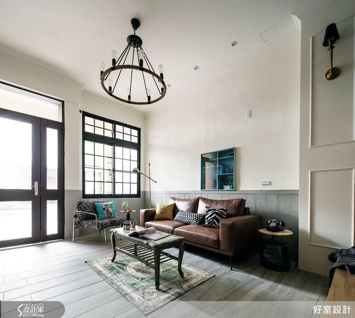 設計師透過各式色彩替空間裝飾,替老房子增添新容顏。