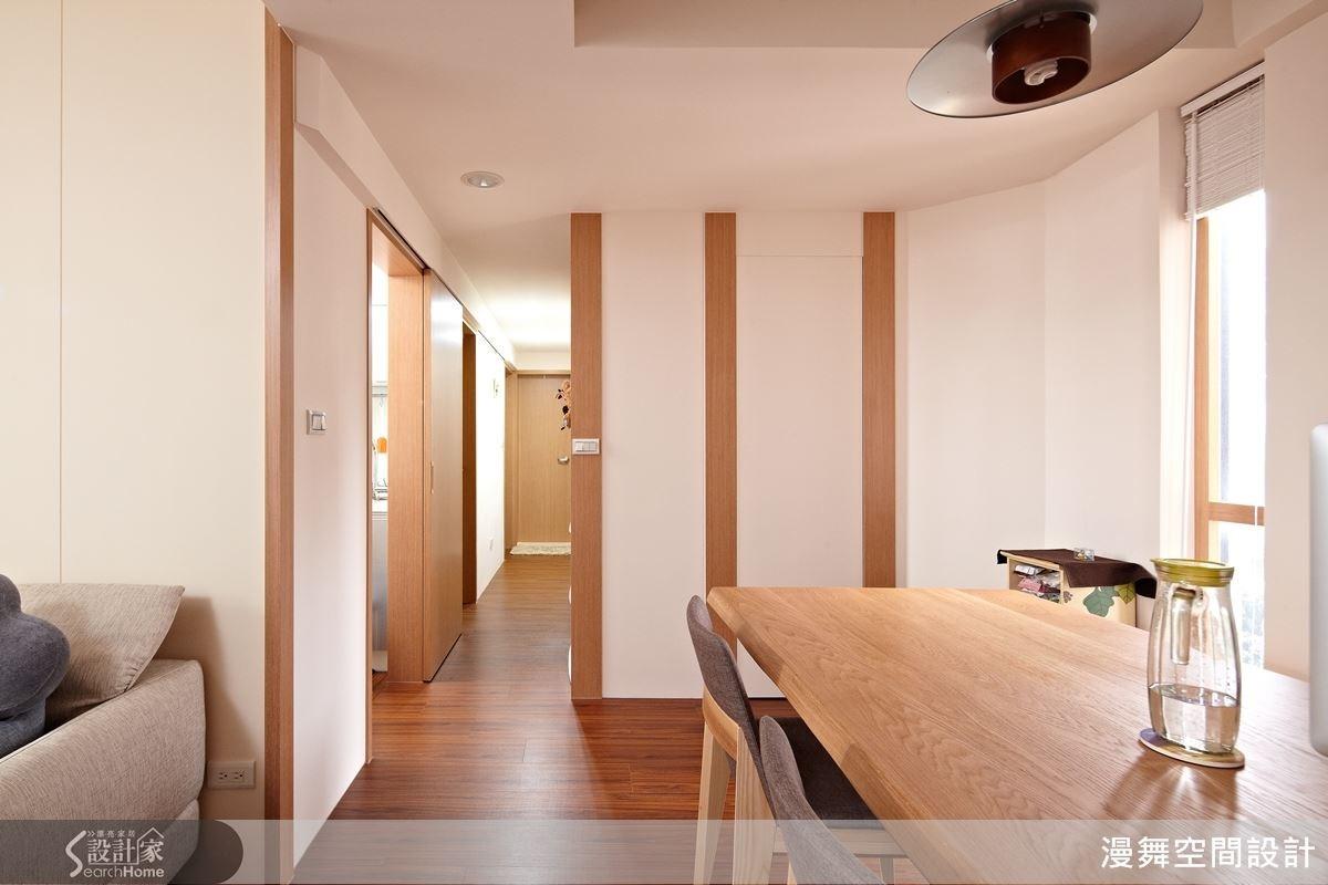 結合線條以及調配空間色彩的配置,用三種基本的色調,就能帶給空間變化性,給人一種乾淨而清爽的氛圍。