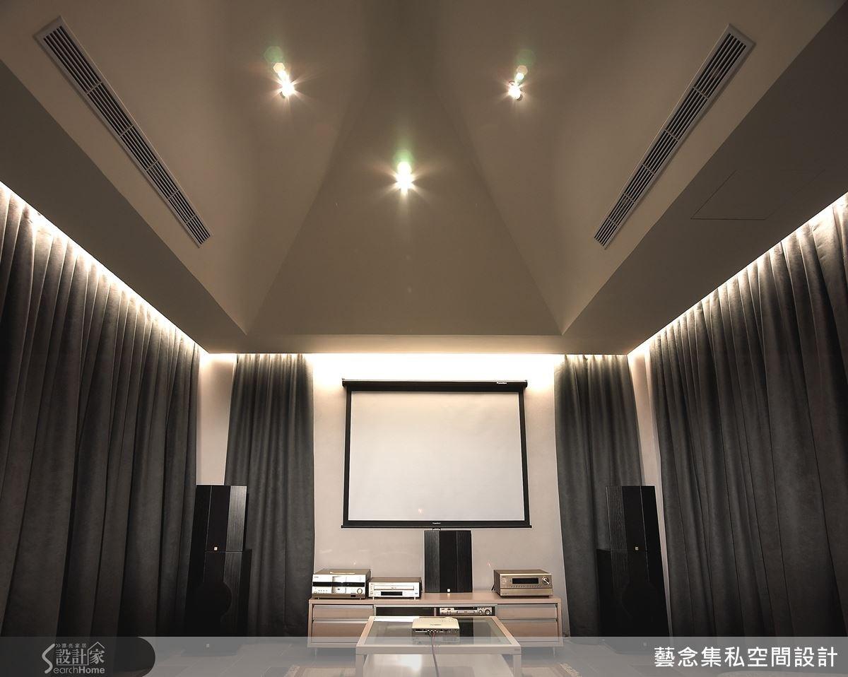 規劃一間專屬的視聽室,讓在家也像是到電影院一樣,有專屬的享受。