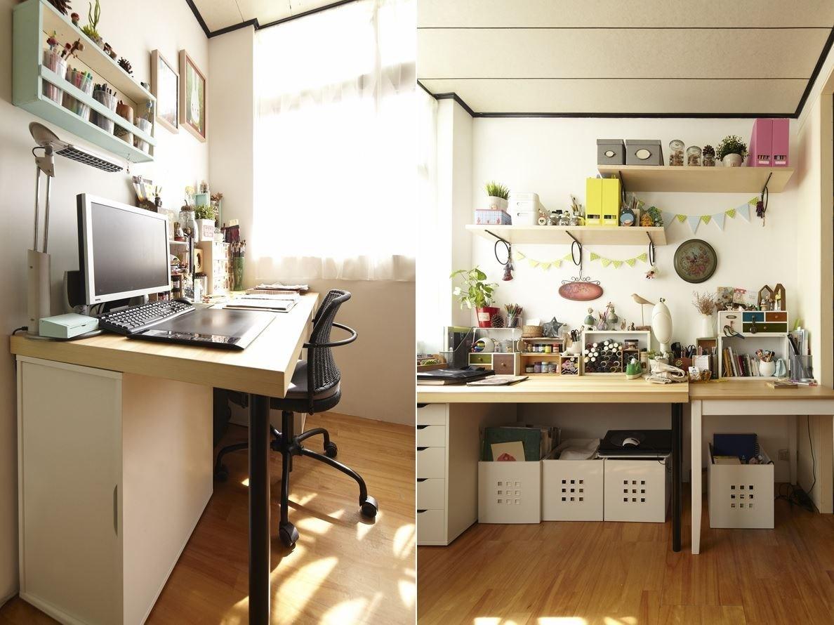工作區運用收納櫃、展示層板,將小東西作更有系統的收納,並將手作作品作為居家裝飾品,展現整齊又溫暖的生活空間。圖片提供_IKEA
