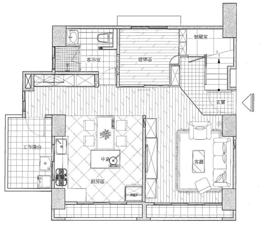 (圖 02 ) 1 樓_ After _圖片提供_禾創室內設計