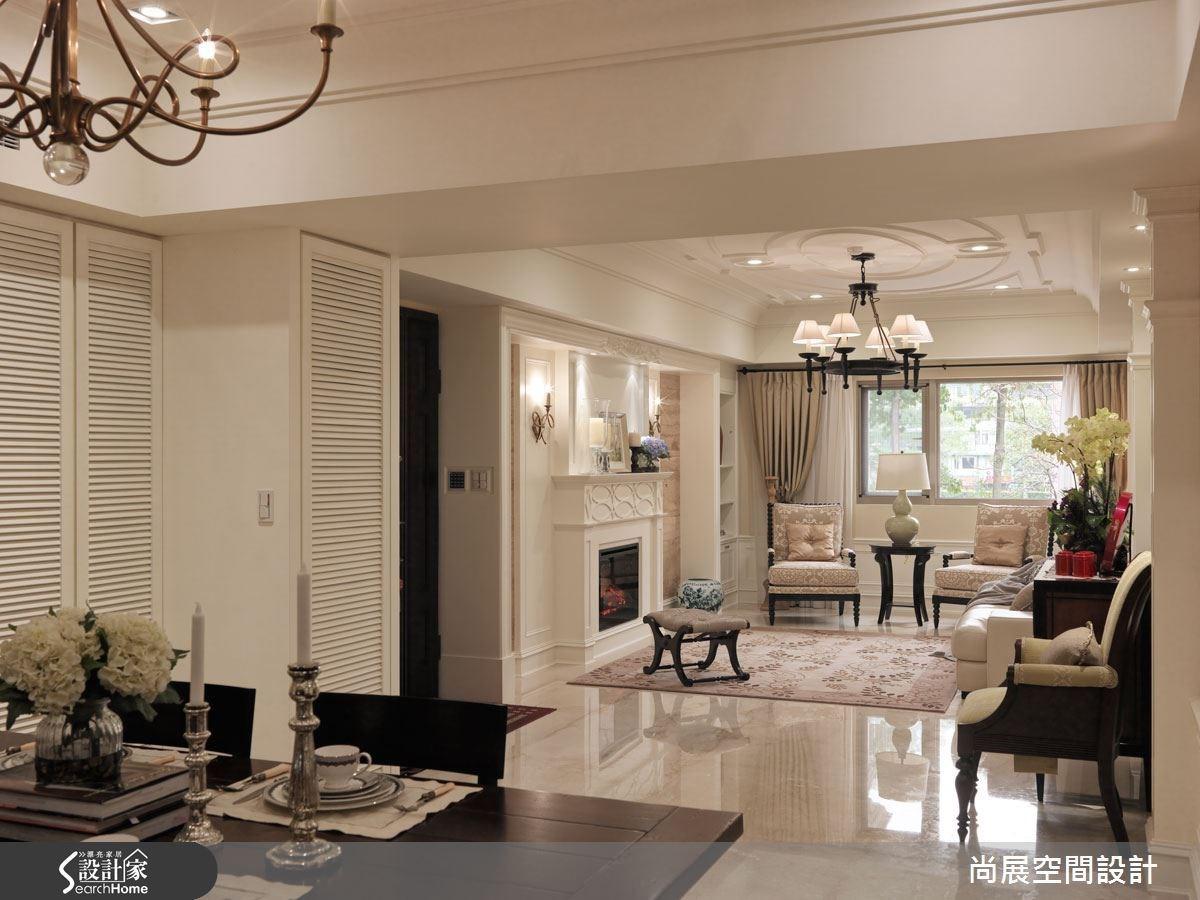 開放式的空間格局規劃,實現美式生活的自由向度,也讓百坪大宅寬敞明亮的優勢充分展現出來。
