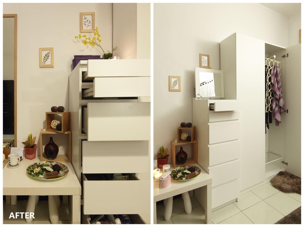 搭配家具家飾:MALM 抽屜櫃附鏡子、PAX 衣櫃、KOMPLEMENT 多功能掛架