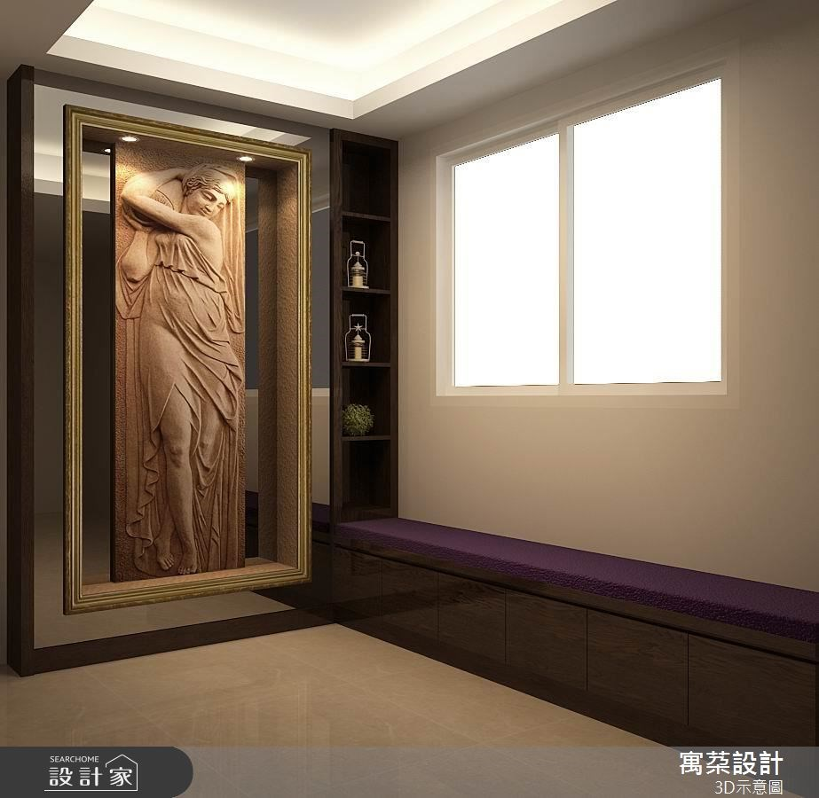 天然石材手工雕刻的羅馬沐浴圖,層次明確,放置在梯間玄關,不管色澤圖像都很討喜,具有招財效果。