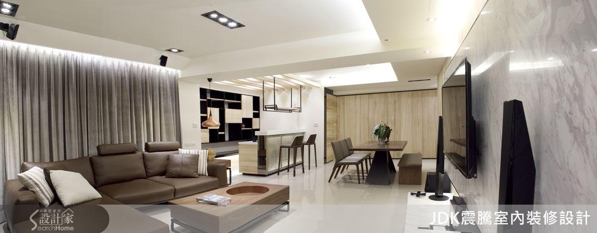 格局不動,設計團隊更改生活動線,賦予空間時尚又舒適的居住氛圍。