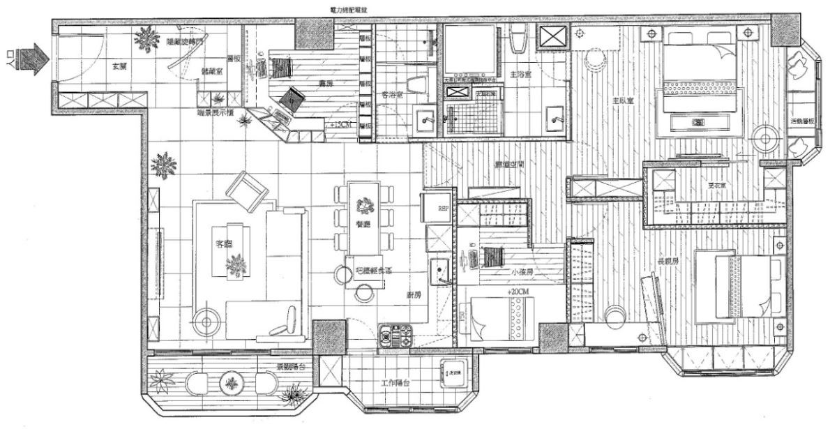 After_裝修後公私領域分明,拉大空間開闊感。平面圖提供_禾創室內設計/禾捷室內裝修設計
