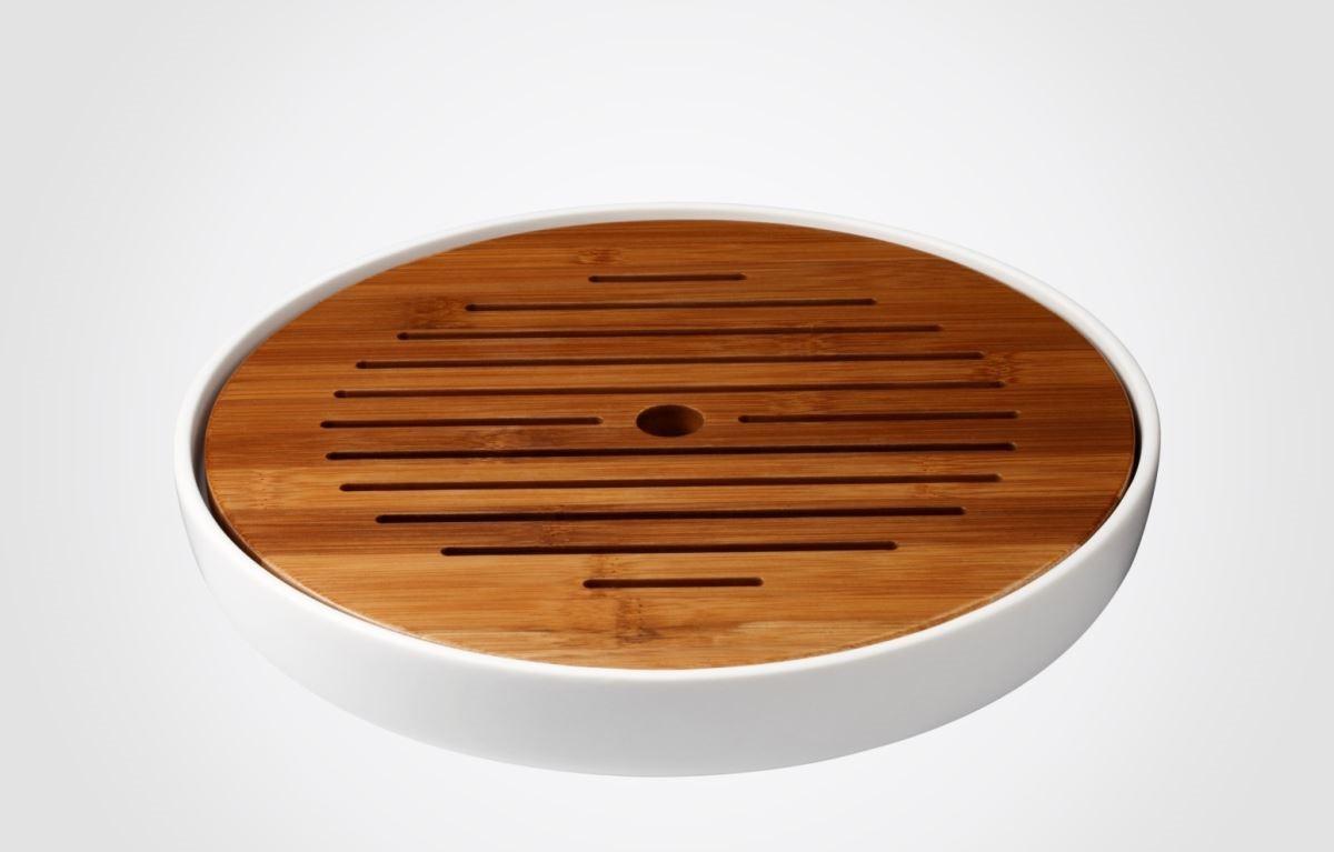 【茶盤】表現溫暖厚實的質地,造型線條簡約,多元用途簡單融合現代生活中。圖片提供_器研所