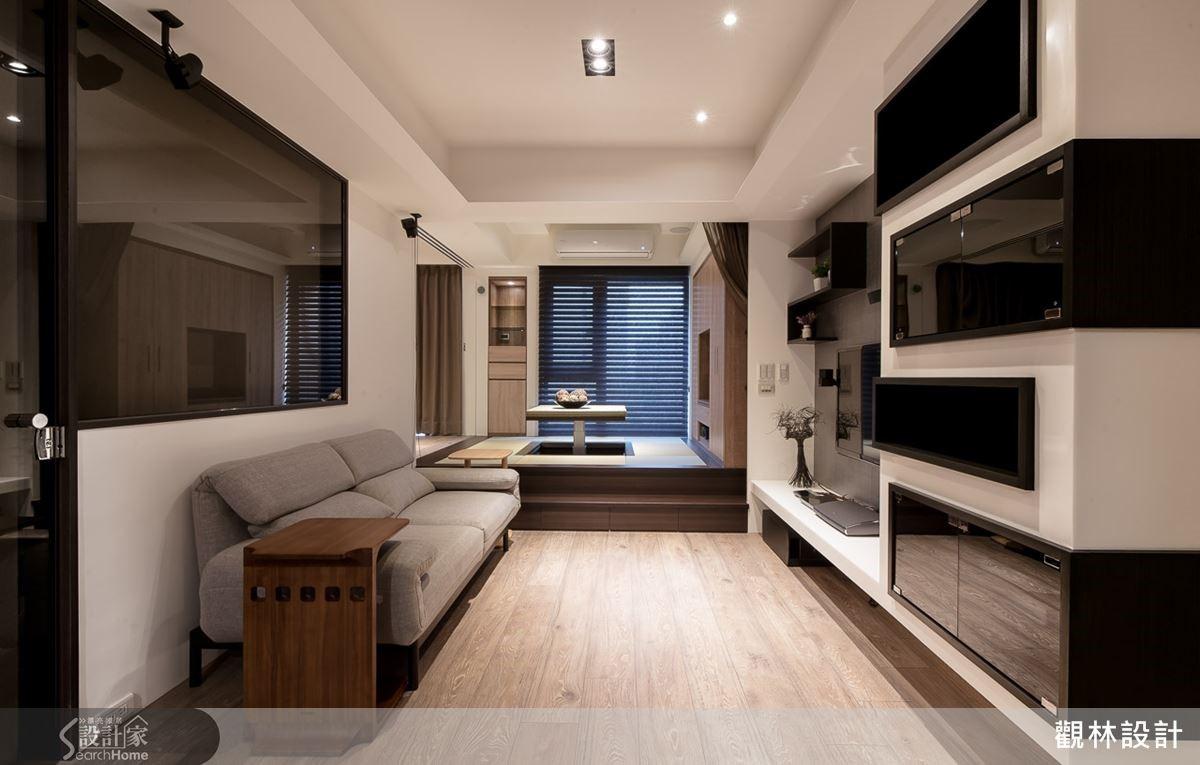 客廳使用北歐元素居多,簡單的色調更能讓人感到放鬆。