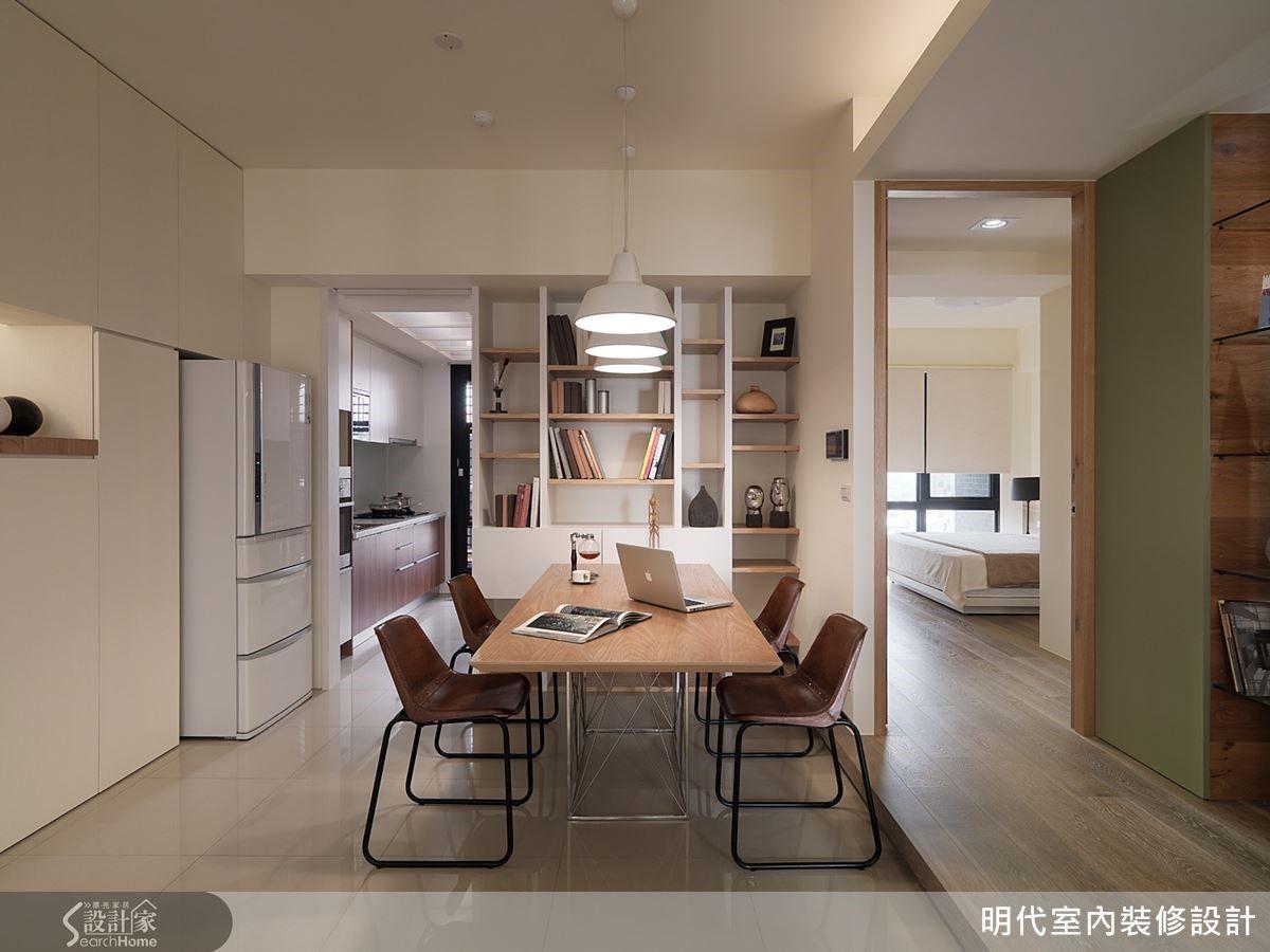 沒有複雜的線板與裝飾,空間呈現乾淨而舒適的調性,木質家具也是以溫暖、帶有簡單線條為主。