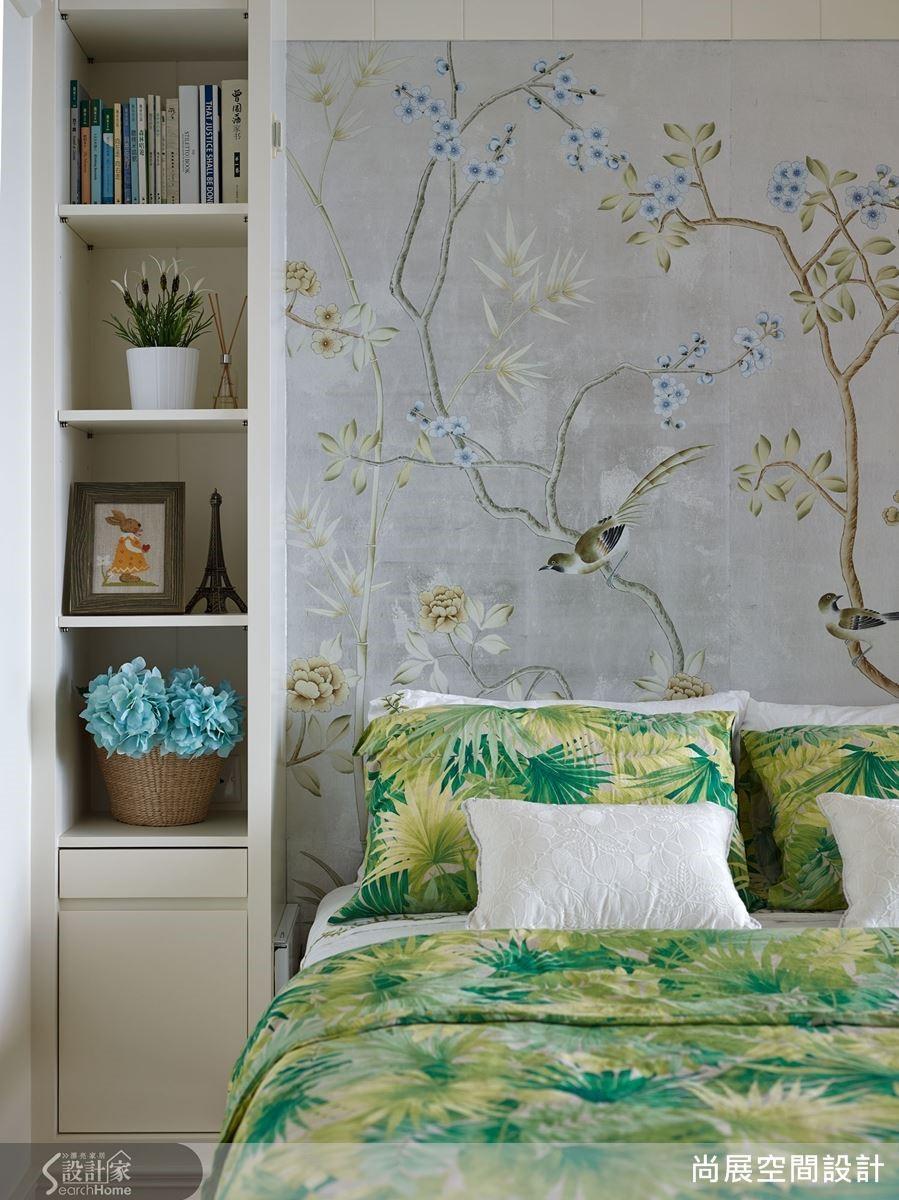 以獨特的美感品味,吳總監也常在美式風空間中加入具有細膩東方風情的設計元素如工筆花鳥刺繡等,交織出令人驚豔的和諧藝術美感。