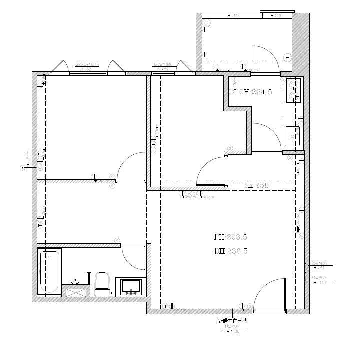 姊姊的家_Before平面圖提供_大琚空間設計_新成屋原本的格局,兩間一模一樣。