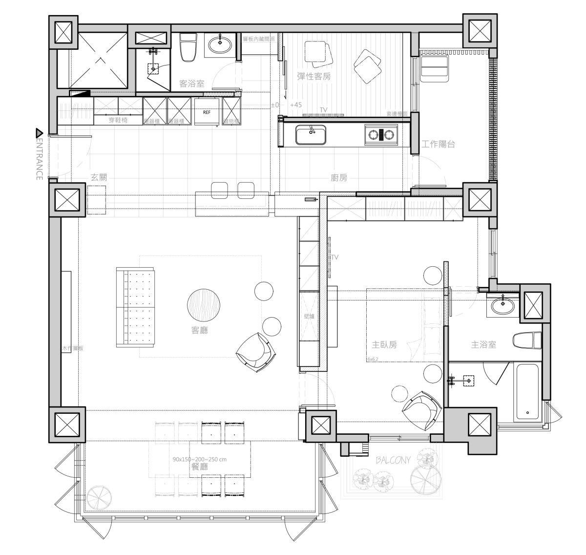 平面圖提供_禾築國際設計