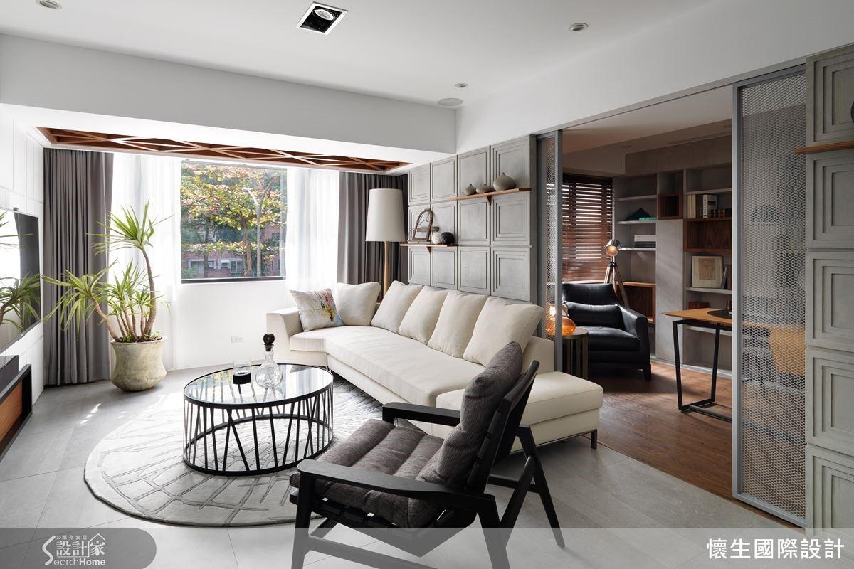 調整格局,讓陽光灑落一室,不僅令精神舒爽,空間視覺更顯寬闊。