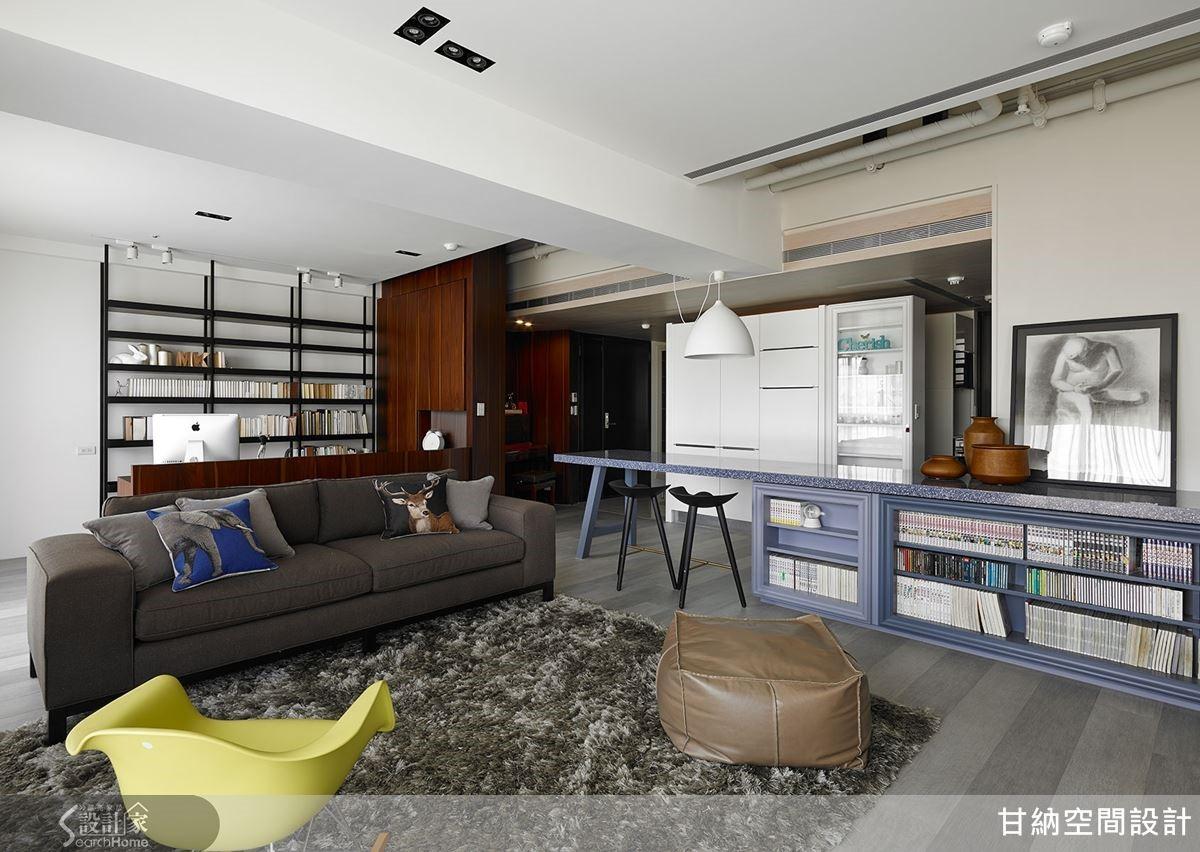 以平面圖規劃動線,透過立面圖添入材質、色彩,建構家的樣貌。作品為「Apartment C」。