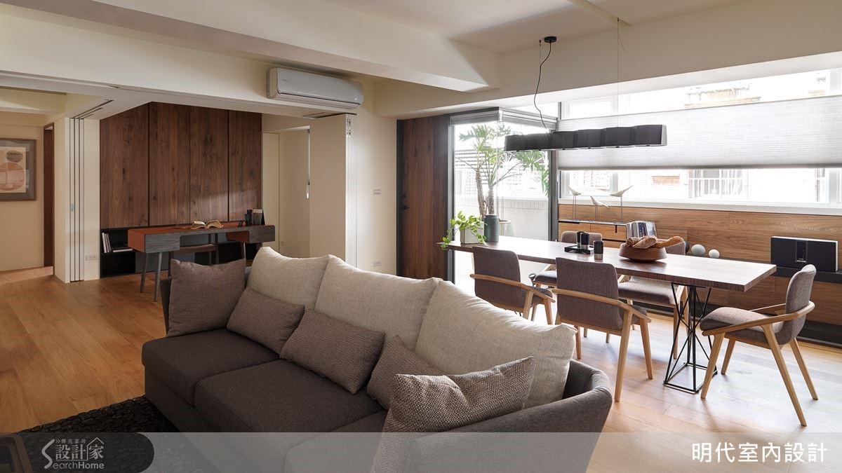 將多餘空間分享出來,使用率不高的客房結合書房設計,連走道都無形融入公共區。