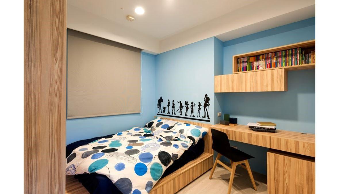 同樣是小孩房,因為不同色彩與組合,就能展現截然不同的風貌。