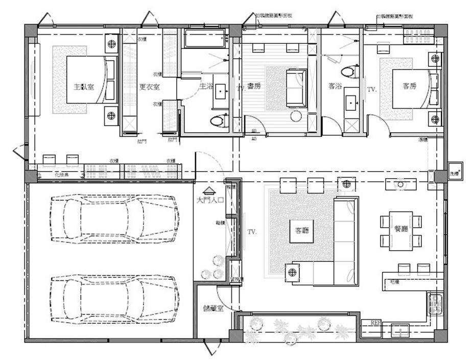 平面圖提供_采豐國際室內設計