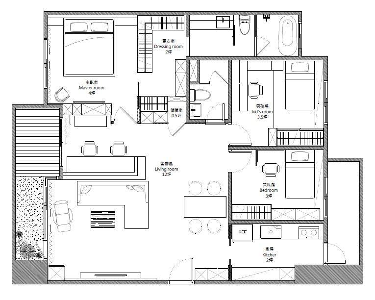 平面圖提供_築悅空間設計