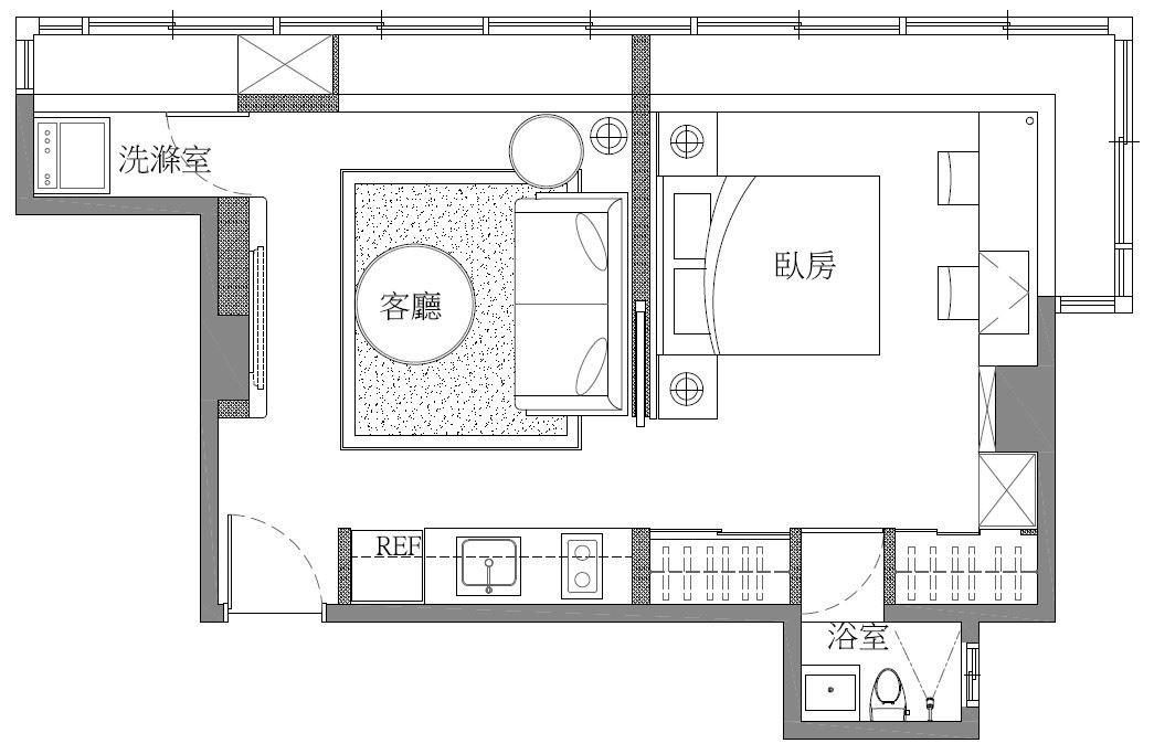 平面圖片提供_采豐國際室內設計