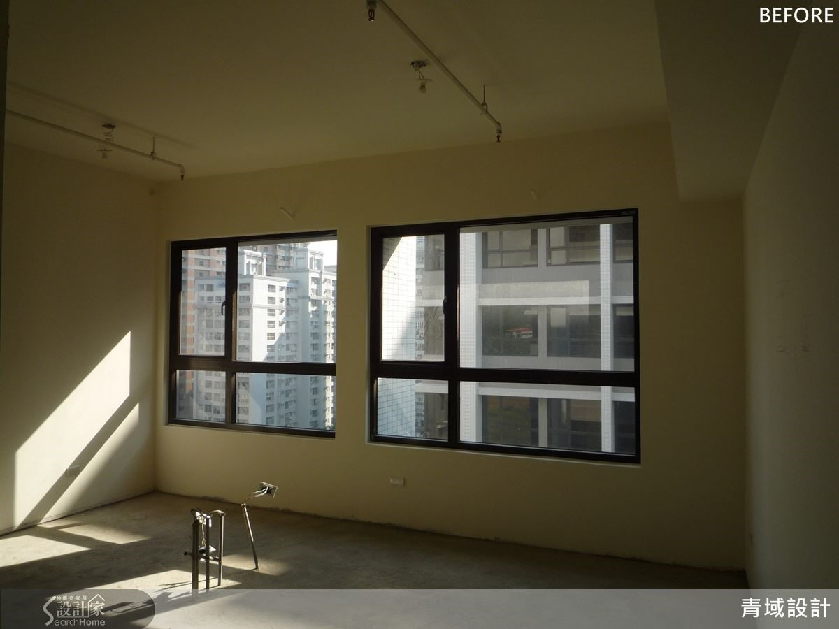 新成屋改造案例,客廳Before格局。