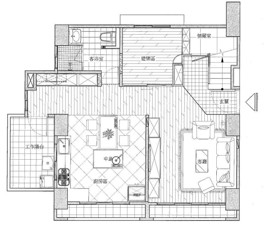 1 樓_平面圖提供_禾創室內設計/禾捷室內裝修設計