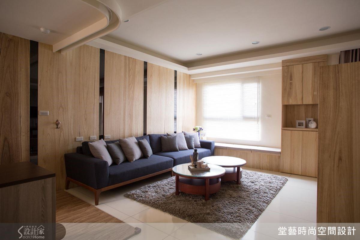 顧慮到長輩在行進間的安全,幾乎所有的訂製家具都以圓角呈現。