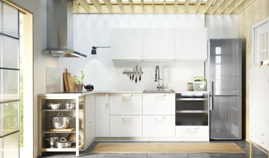 不論什麼造型的廚房都可以找到最合適的尺寸,讓家電完美結合,並讓機能兼具。圖片提供_IKEA