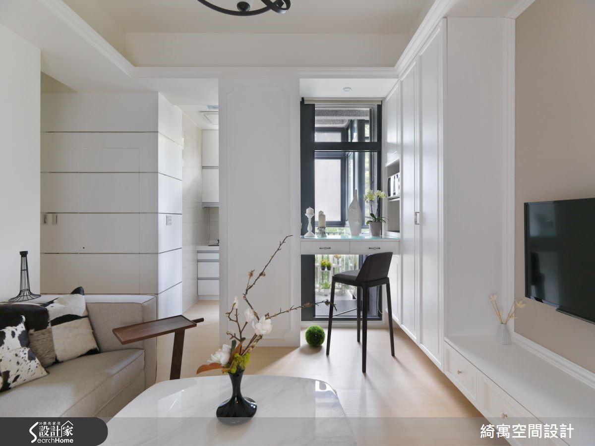 這間位於文山區的 12 坪小宅,則是將窗邊最好的陽光地帶規劃為單人小吧檯,讓屋主可以在咖啡的香氛與溫暖舒適的陽光裡,慵懶獨享一整個午後的美好時光。