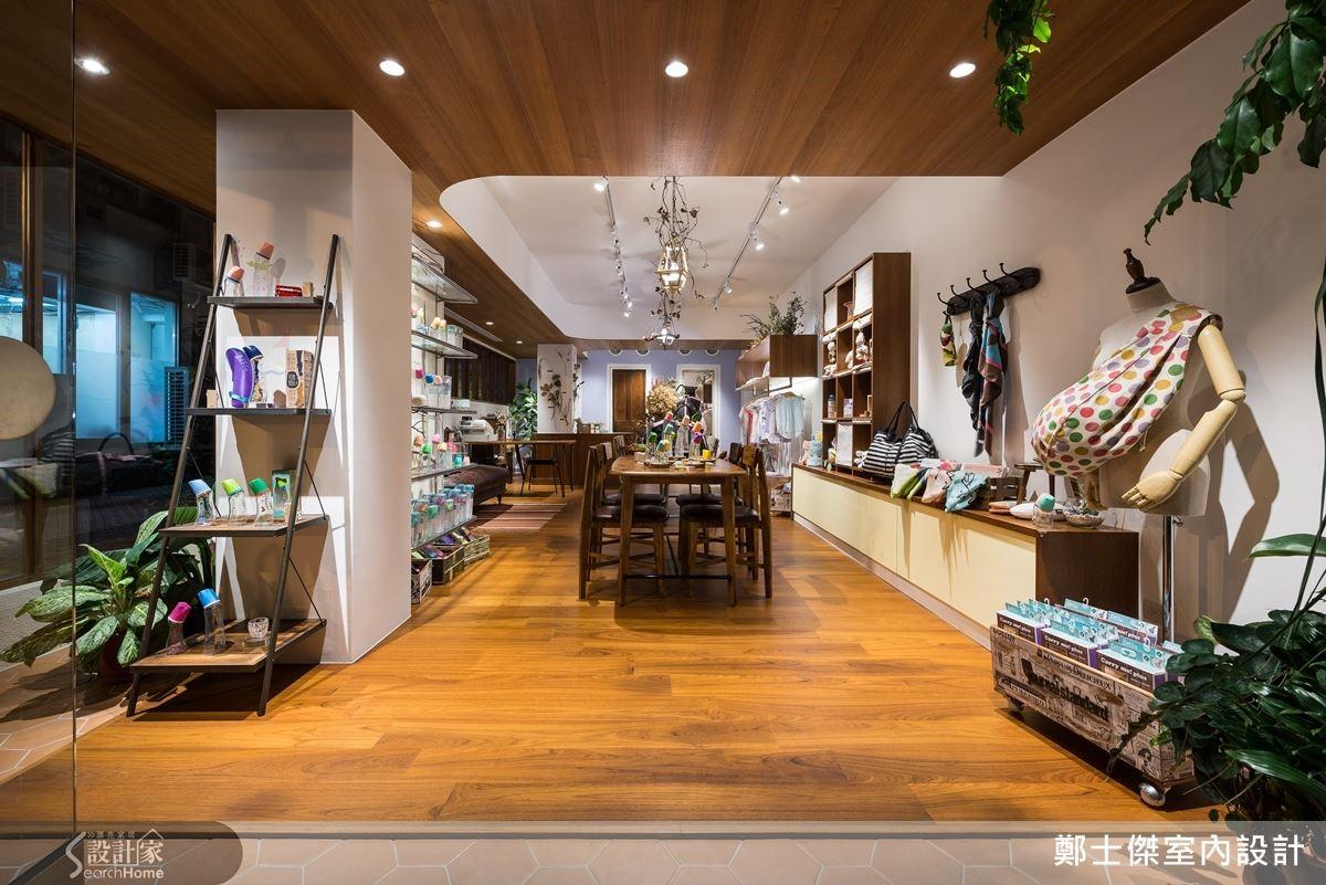 鄭士傑室內設計以細緻手法打破商空就該是視覺強烈的設計,進入店面須脫鞋的概念,讓客人一進到這裡就會舒服到賴著不走。