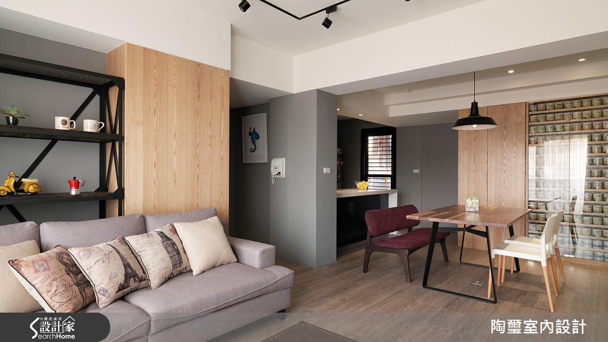 將廚房區域改為開放式設計,並且將廚房旁的多餘房間縮小變成更實用的儲藏室,讓餐廚區域變得更寬敞好用。