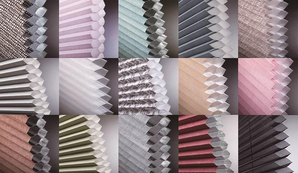 NORMAN蜂巢簾擁有多樣化的材質布料與色系