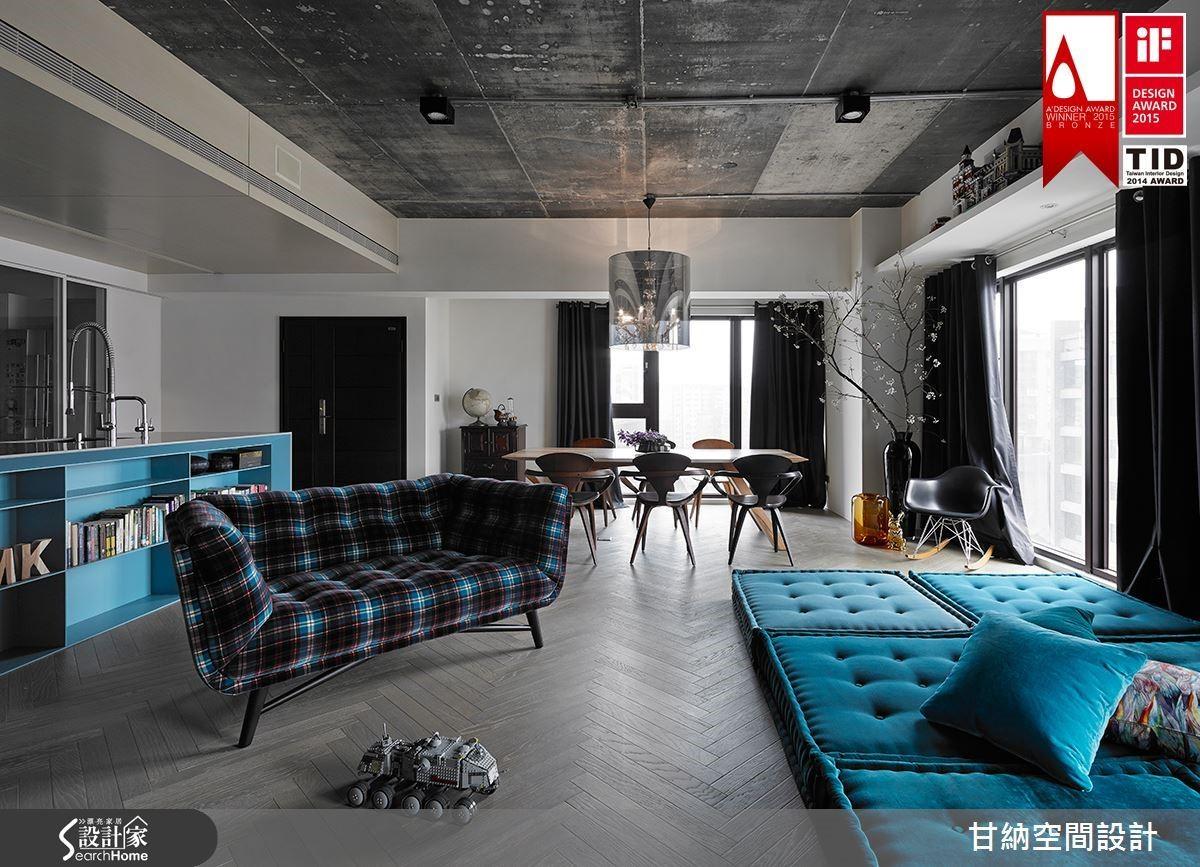 甘納設計的居家作品〈At will 隨心所域〉。格局的開放不只是為了突破傳統廳房觀念,更是真誠回歸居住者的生活本質。本案獲 iF DESIGN AWARD 2015、2014單層居住空間類 TID 獎、義大利 A