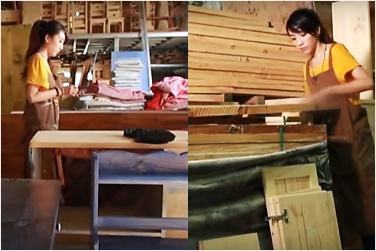 李佳鈺從手繪設計到進入工廠手工製作、查驗,創造一件獨一無二專屬於你的家具。圖片提供_設計家電視