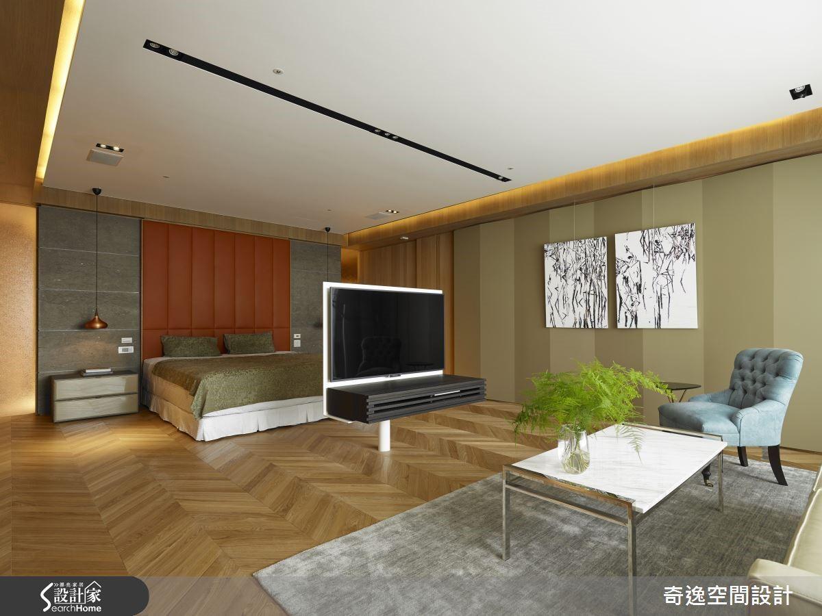 五星級的睡眠空間是業主自我犒賞的最佳禮物,起居室完整的配備,加上無敵景觀,讓主臥室成為享樂天堂。