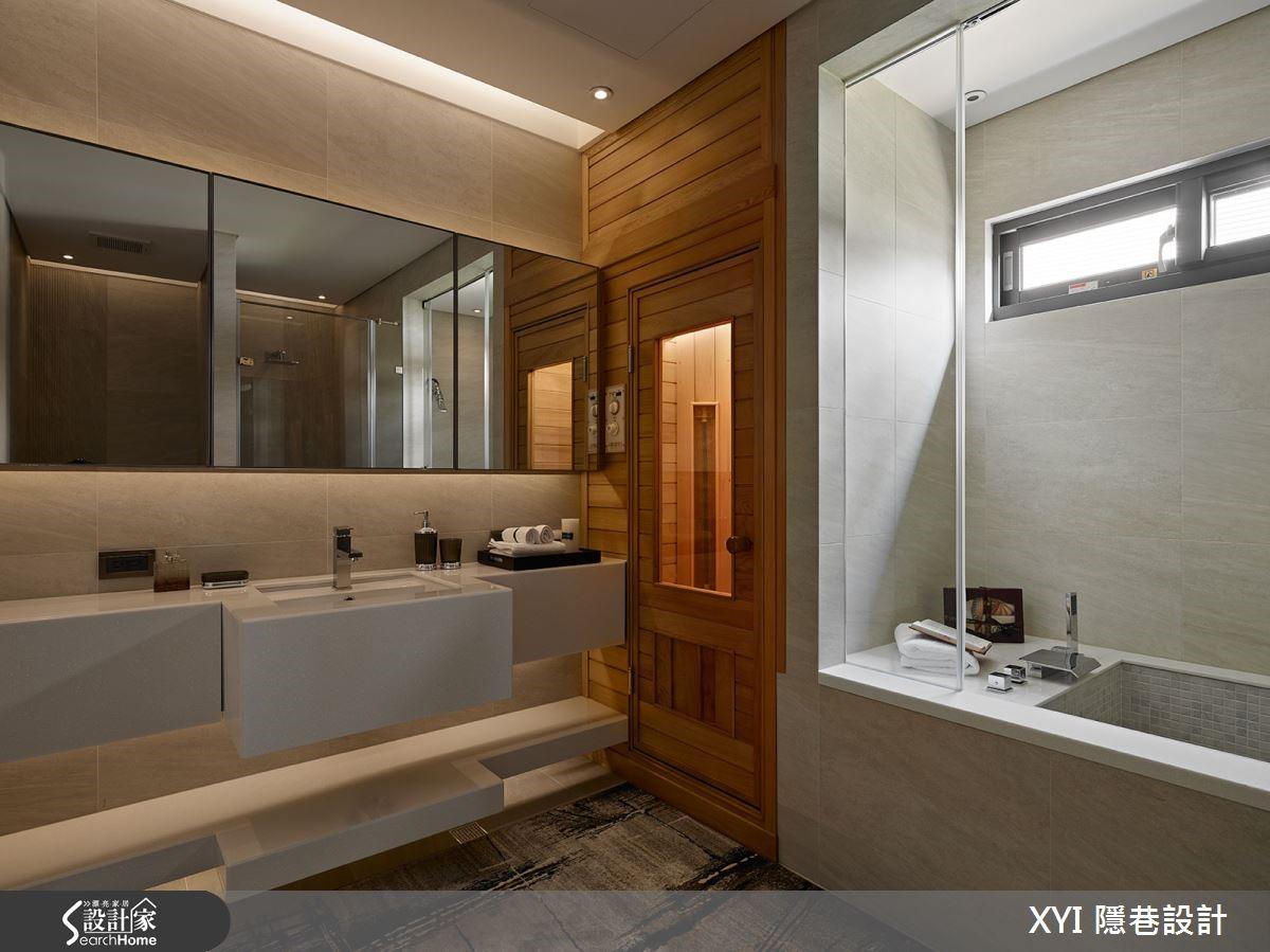 而浴室則以飯店同等級規劃,以進口磁磚貼附牆面,加上 SPA設計讓機能完善。