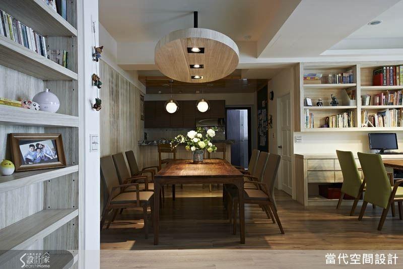 這是于懷晴設計師最喜歡的一張照片,彷彿能讓人感受到空間中的書香、花香與飯菜香,傳達出「家」的溫暖氣息。