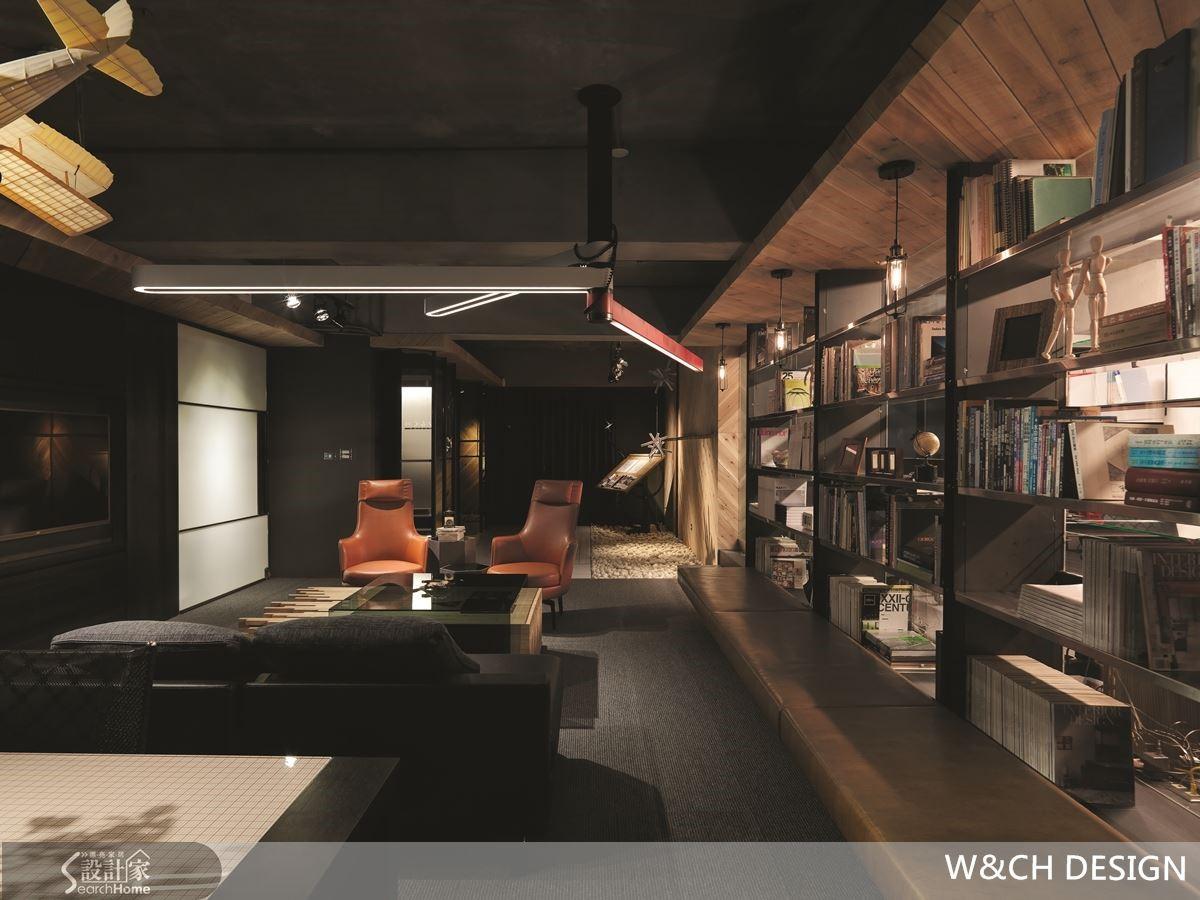 雖然是辦公室,但是宛如Lounge Bar的情境設計,充滿紓壓氛圍。