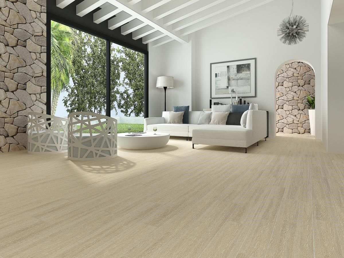 【木紋磚】人文與親大自然的空間營造,從環保觀念上可以從木紋瓷磚應用,會選擇由匠師手操為微刻的木紋理,自然暈然漸層也是必須合乎自然生成的邏輯,彰顯似以為真的質感。圖片提供_馬可貝里_3D圖示示意圖